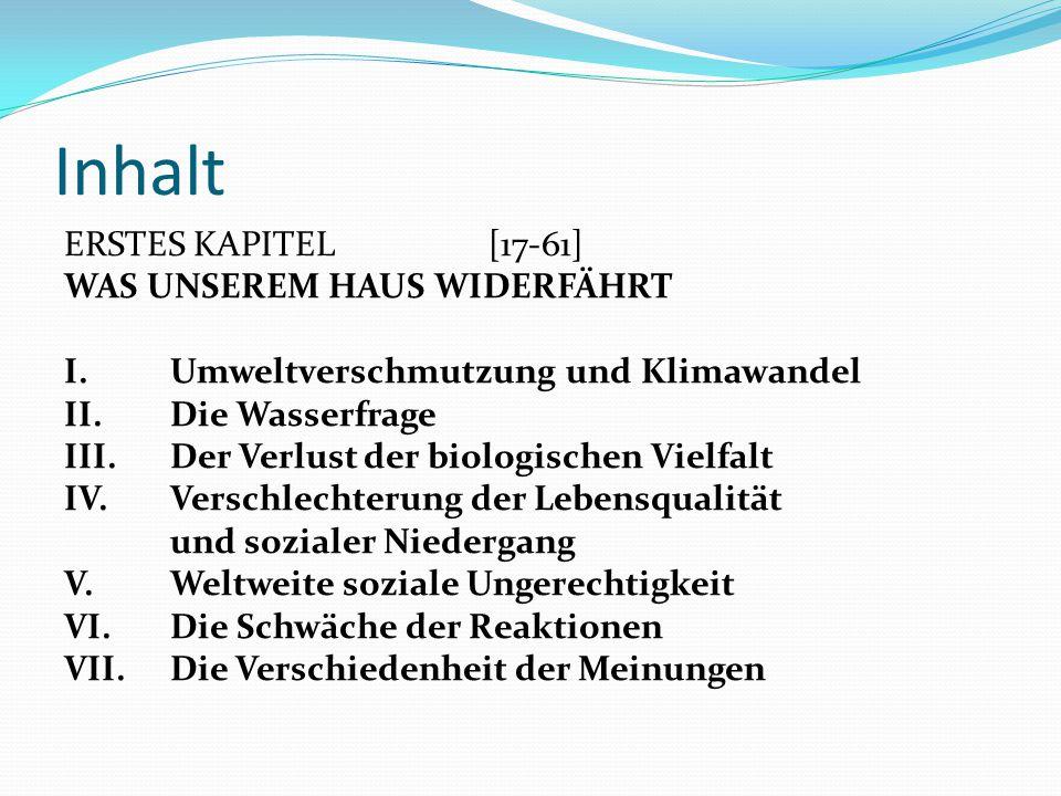 Inhalt ERSTES KAPITEL [17-61] WAS UNSEREM HAUS WIDERFÄHRT